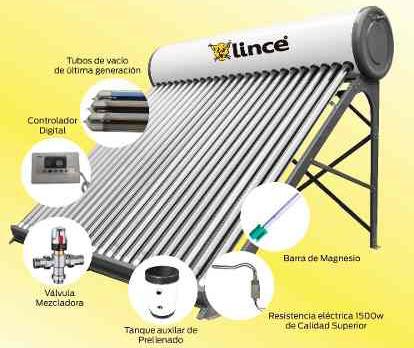 Termotanque Solar 100L c/kit Lince