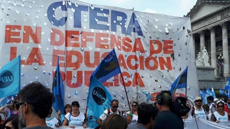 CTERA declaró el Paro Nacional para el próximo martes.