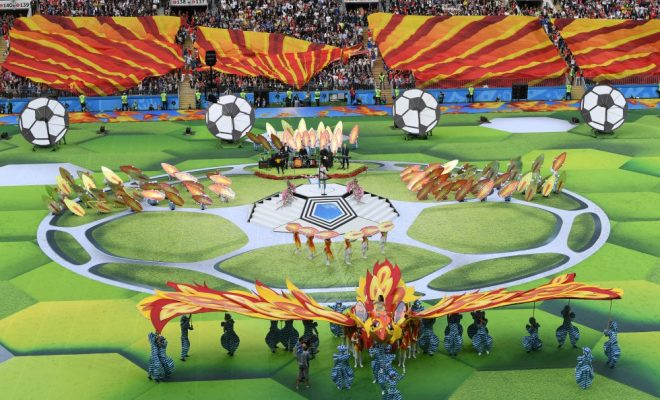 Arrancó el Mundial con música, fútbol y expectativa.
