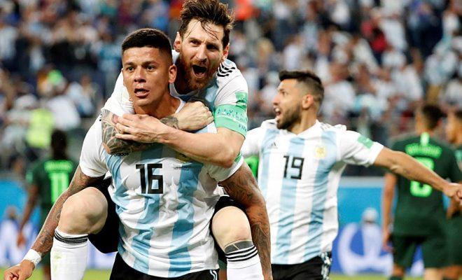 Rojo le dio la victoria a Argentina