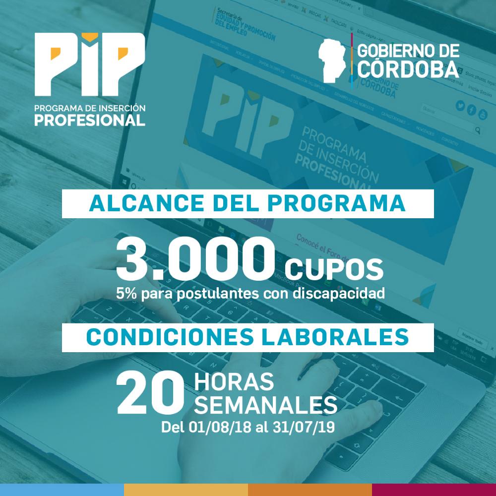 El PIP comenzó este año por iniciativa del Gobierno de la provincia