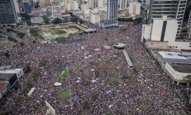 Un grito de oposición: miles de brasileños marcharon contra Bolsonaro