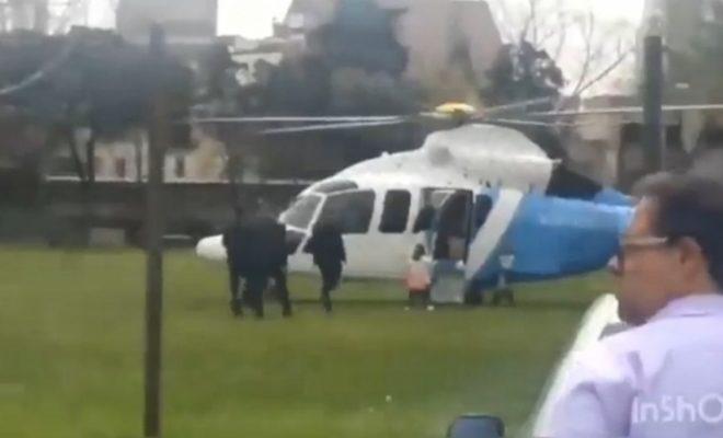 Macri buscó a su hija al colegio en el helicóptero oficial