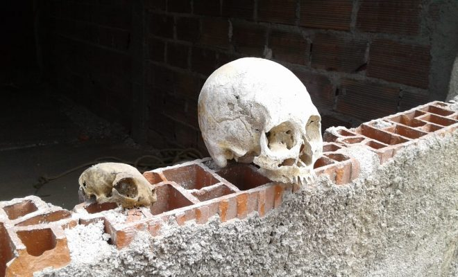 Hallaron un cráneo en una chimenea del Hotel Edén
