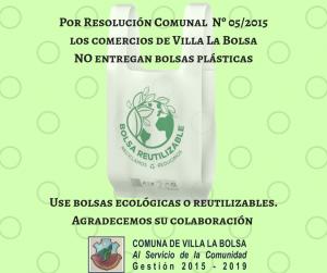Prohibición de bolsas plásticas