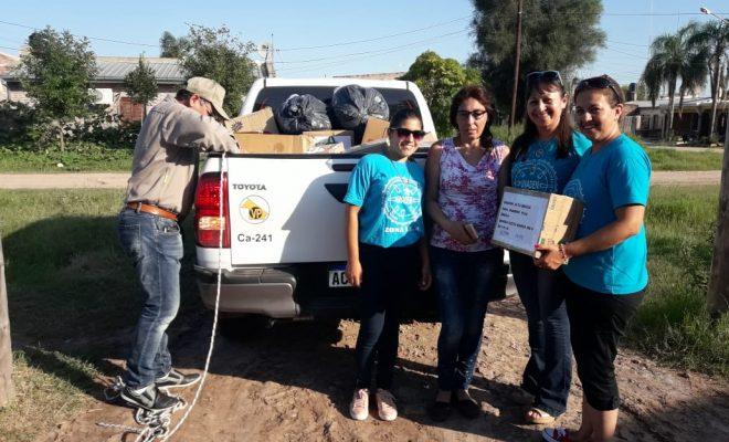 LLegaron a Chaco la ropa y los alimentos donados por los altagracienses