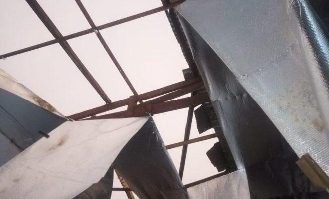 La tormenta voló los techos de El Frontón del Deportivo Norte