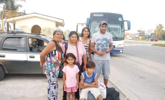 Yolanda, Carla, Valeria, Antonio y los dos pequeños