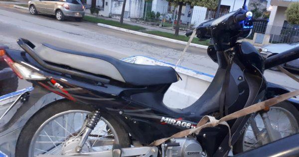Moto con pedido de secuestro