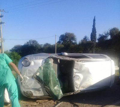 Una vez más, la Autovía fue escenario de un accidente con heridos