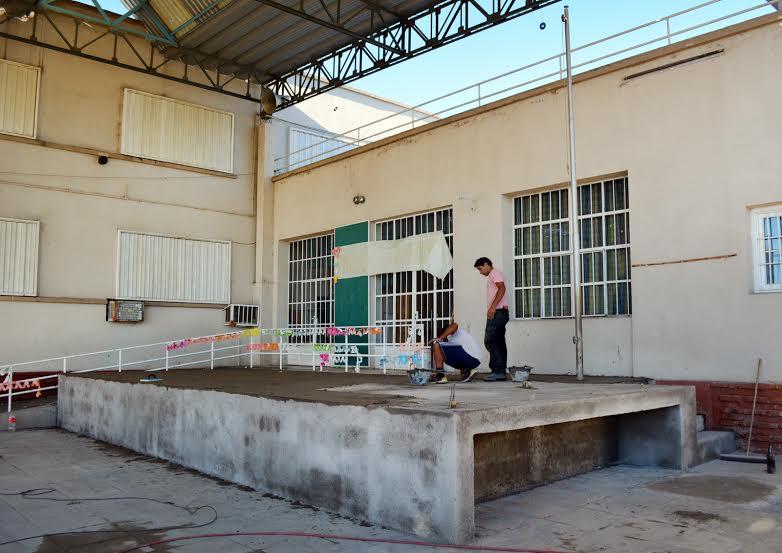 Los atraparon robando en la Escuela San Martín