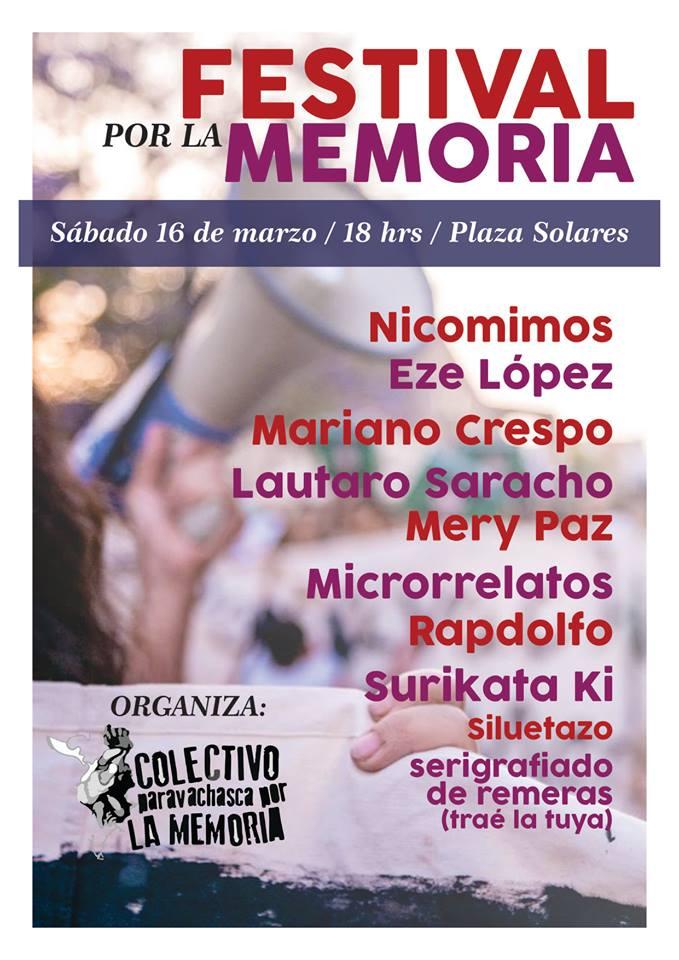 """Mañana sábado se hará el """"Festival por la Memoria"""""""
