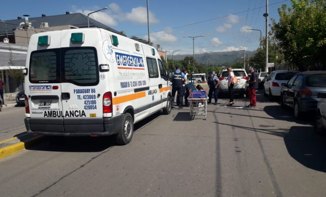 Una mujer de noventa años fue atropellada en Av. Sarmiento