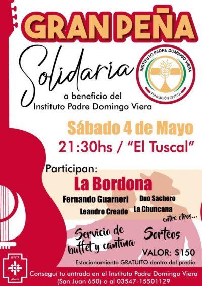 Gran Peña Solidaria a beneficio del Instituto Padre Domingo Viera