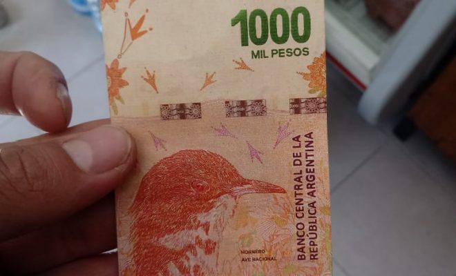 Nueva estafa con un billete de 1000 pesos