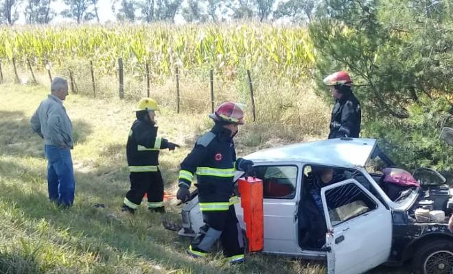 Una familia accidentada en la Autovía Atilio López