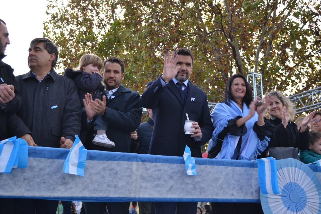 El Intendente Facundo Torres junto a la legisladora Amalia Vagni y el Secretario de Gobierno Marcos Torres.