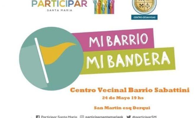 Barrio Sabattini tendrá su propia bandera