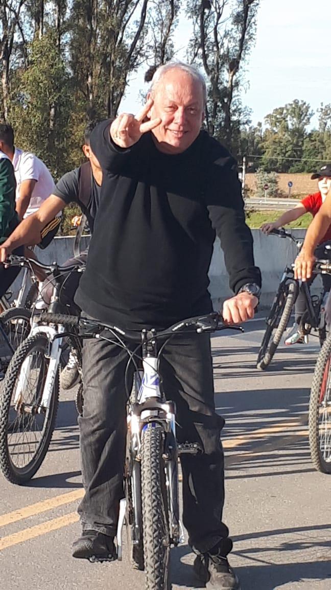 Santa Ana: bicicleteada y fuerte acompañamiento a la candidatura de Becker