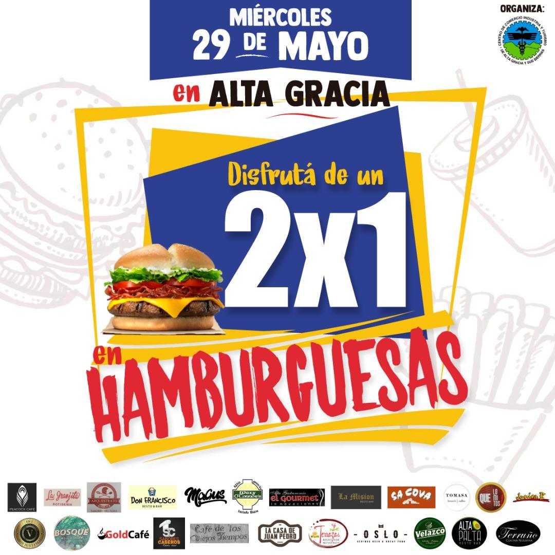 ¡A comer! Se viene el 2 x 1 en hamburguesas