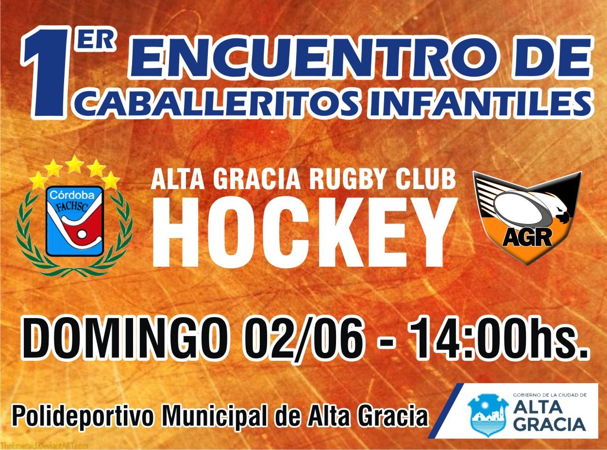 Domingo a pleno hockey masculino en el Parque Deportivo Urbano