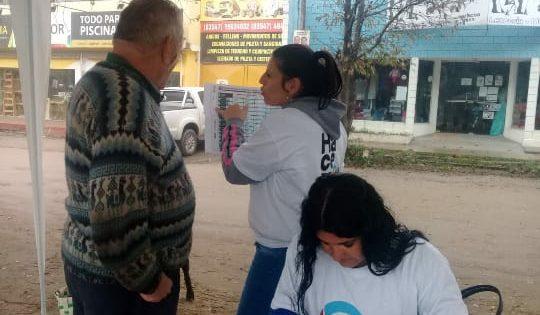 """Anisacate: """"La Militante"""" recorrió las calles instruyendo a los vecinos"""