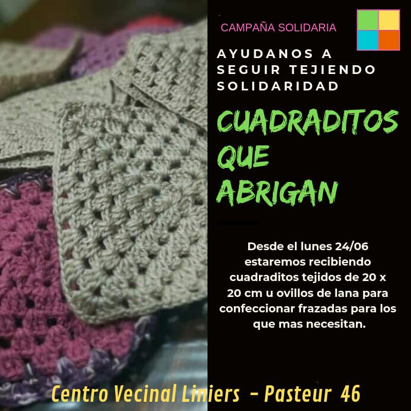 Campaña solidaria: CUADRADITOS QUE ABRIGAN
