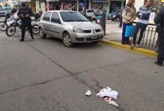 Accidente en pleno centro