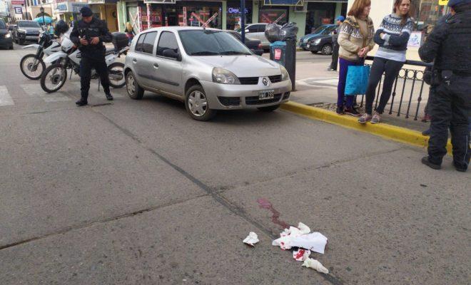 Accidente en pleno centro
