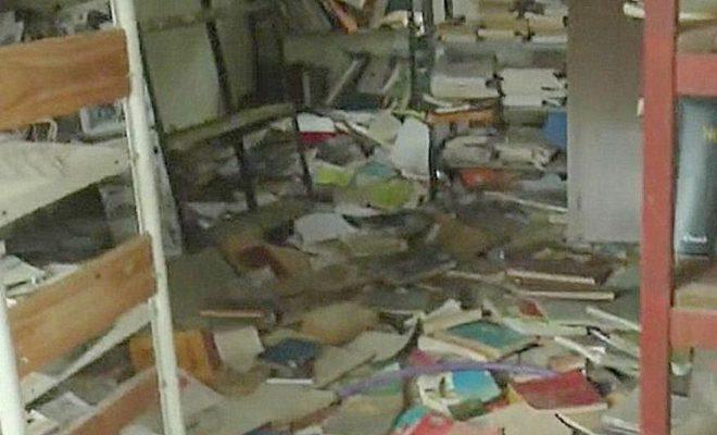 Malagueño: desconocidos vandalizaron una biblioteca