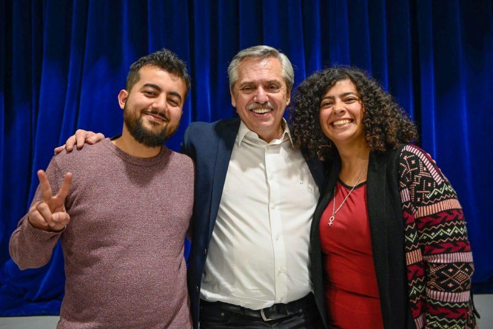 Diego Heredia y Saira Asúa dialogaron con Alberto Fernández