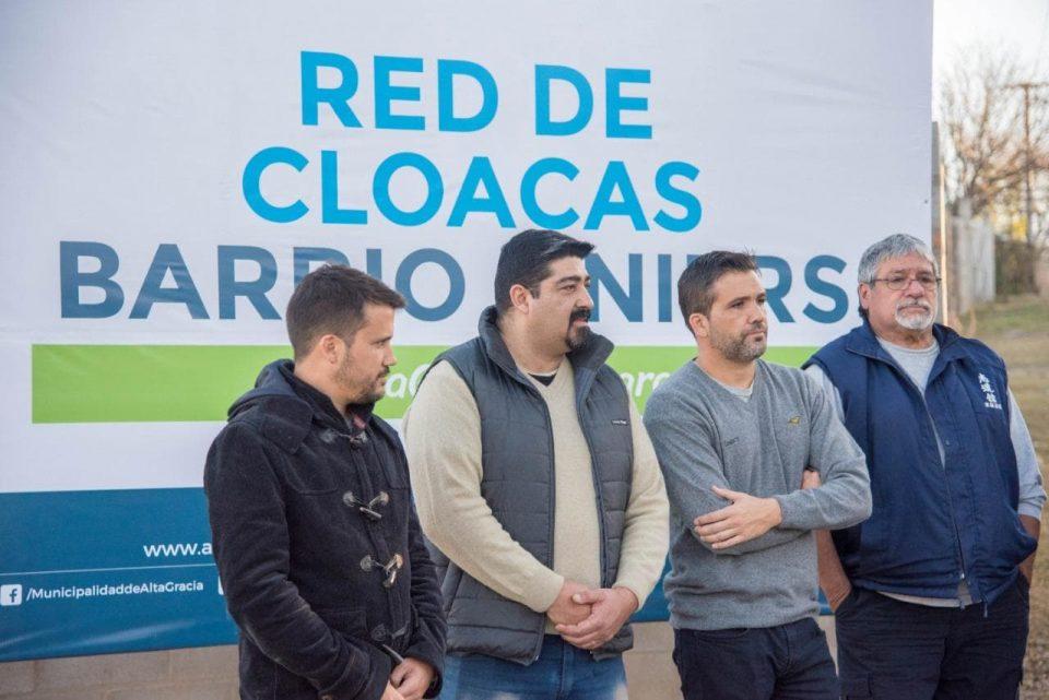 Fue inaugurada obra de cloacas para vecinos de barrio Liniers