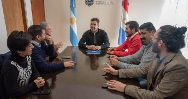 Facundo Torres recibió al Intendente de Cosquín