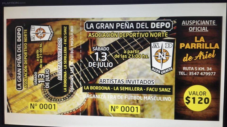 La Gran Peña del Deportivo Norte llenará de música y color la noche del sábado
