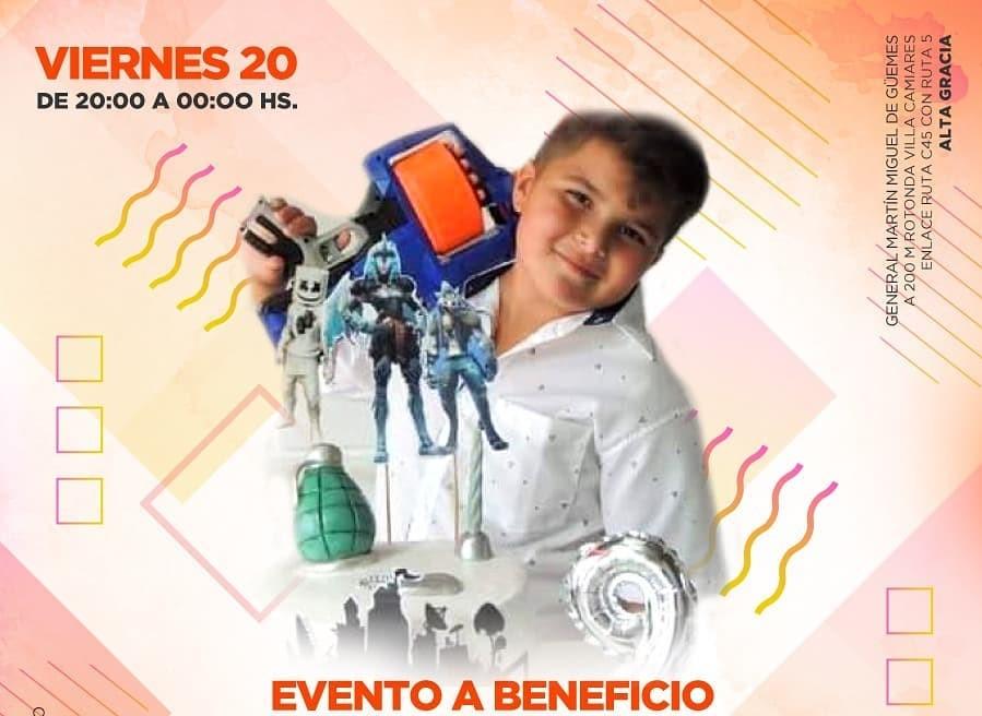 Todo listo para el evento a beneficio de Santi Sánchez el próximo viernes 20