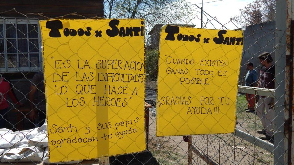Se llevó a cabo y con éxito la pollada a beneficio de Santi Sánchez