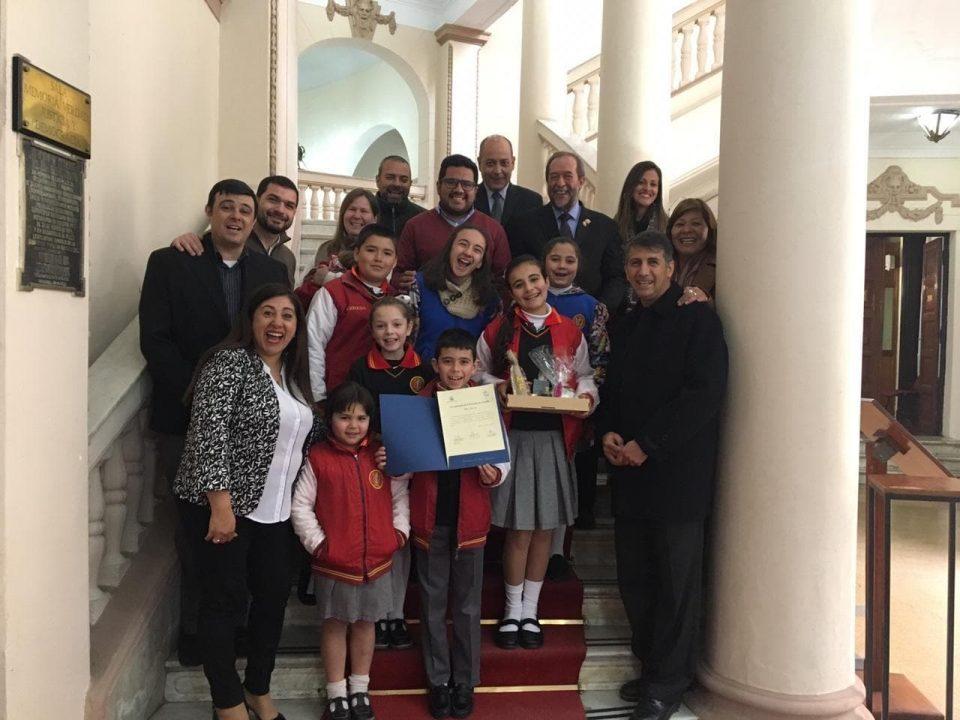 El Falla llegó a la Legislatura Provincial.