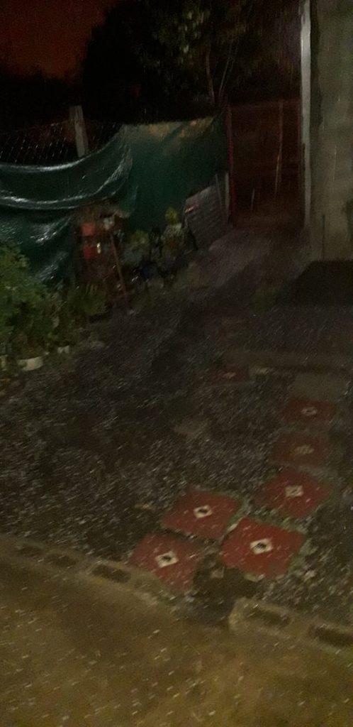 Incesante caída de granizo en Alta Gracia, durante la madrugada