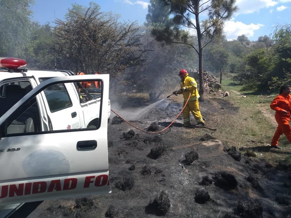 San Clemente: incendio controlado en la zona de la Estancia Santa María