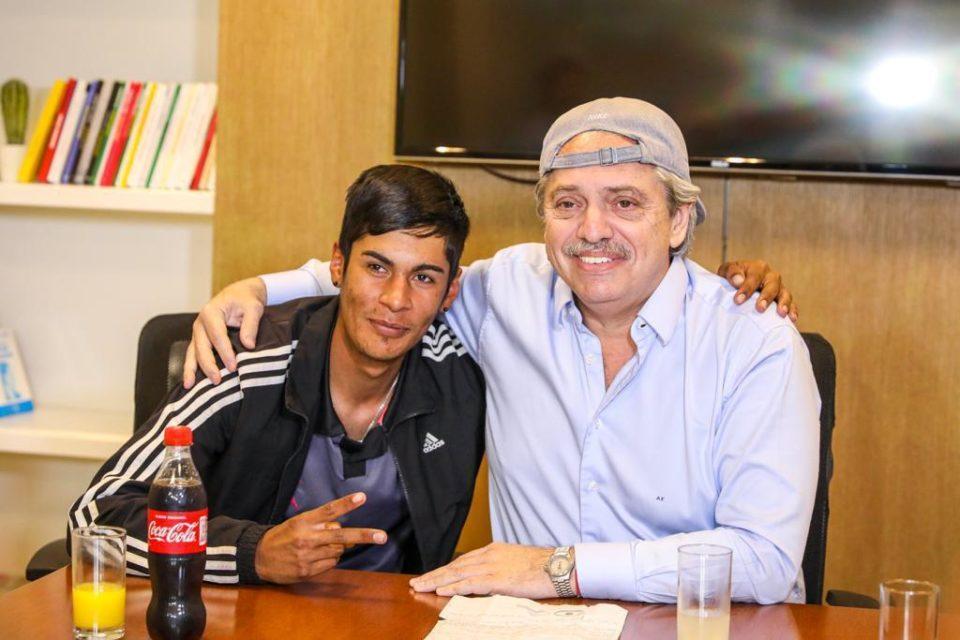 Alberto Fernández recibió a Brian Gallo