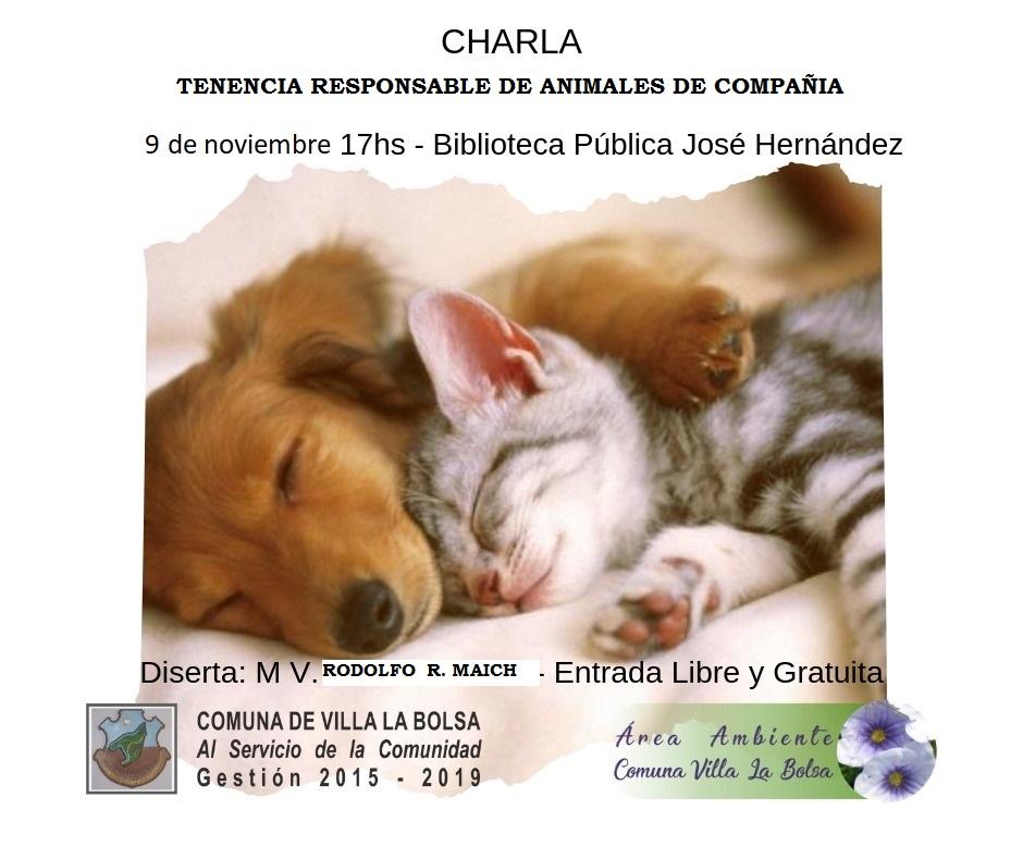 Villa La Bolsa invita a su taller de concientización sobre tenencia responsable de mascotas