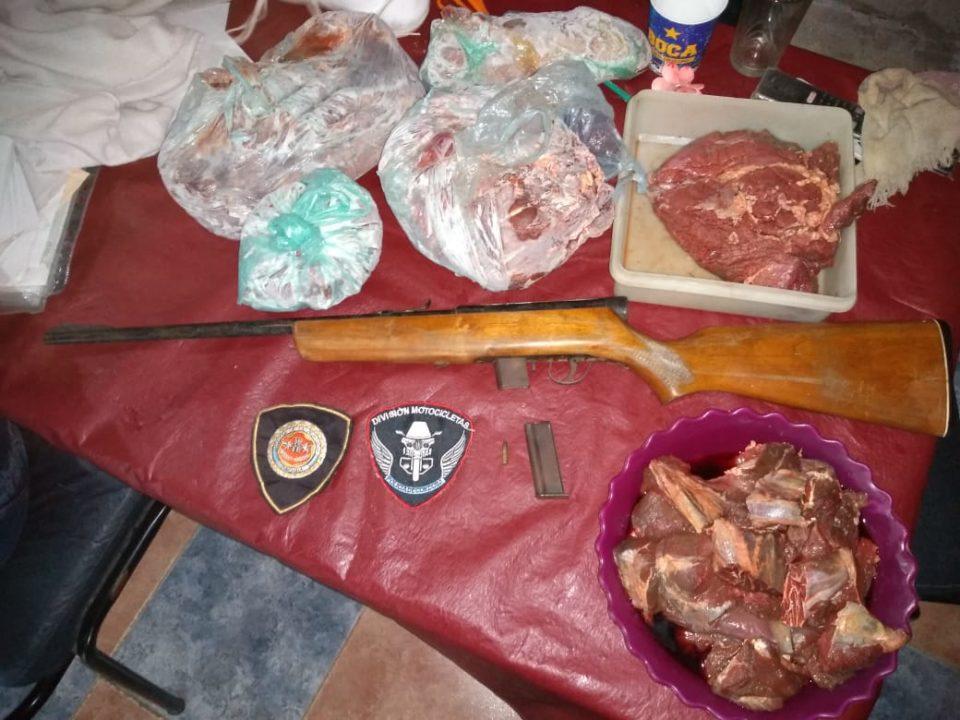 Allanamiento por robo de ganado: tenía más de 70 kilos de carne despostada