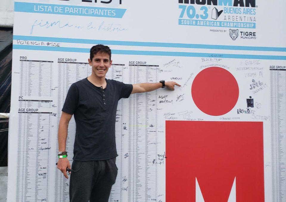 Juan Leonardi entre los mejores del triatlón internacional