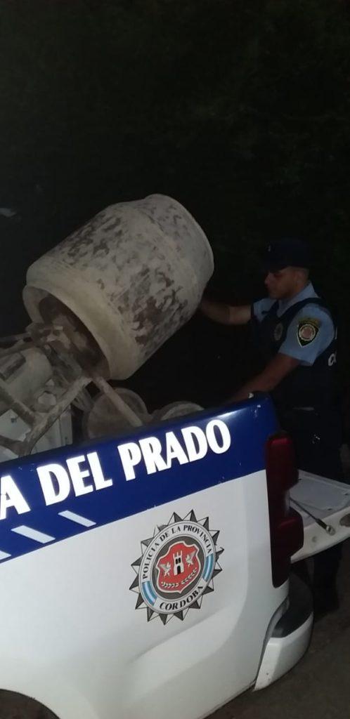 Intentó robar una máquina hormigonera en un country y terminó detenido
