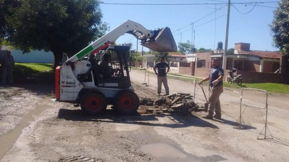 Tras las precipitaciones y las quejas de los vecinos, se aceleraron los trabajos.